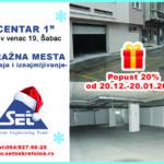Božićni popust na poslovni prostor i garažna mesta